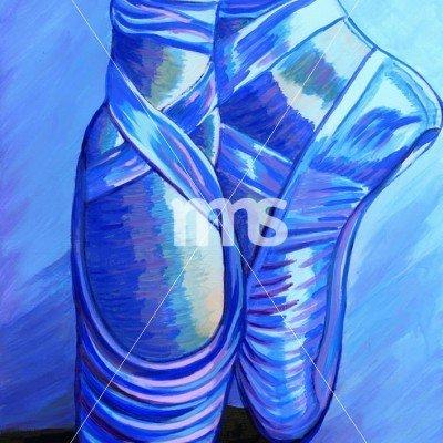Blue Ballet Slippers