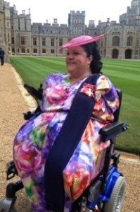 Outside Windsor Caste after the Investiture, wearing my OBE with pride