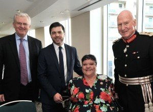 Photograph: Richard Bosworth. Scott Waddington - Chairman of Cardiff Business Club  The Rt. Hon. Stephen Crabb MP- Secretary of State for Wales  Rosaleen Moriarty-Simmonds OBE – A Vice President of Cardiff Business Club Dr Peter Beck – HM Lord Lieutenant of South Glamorgan