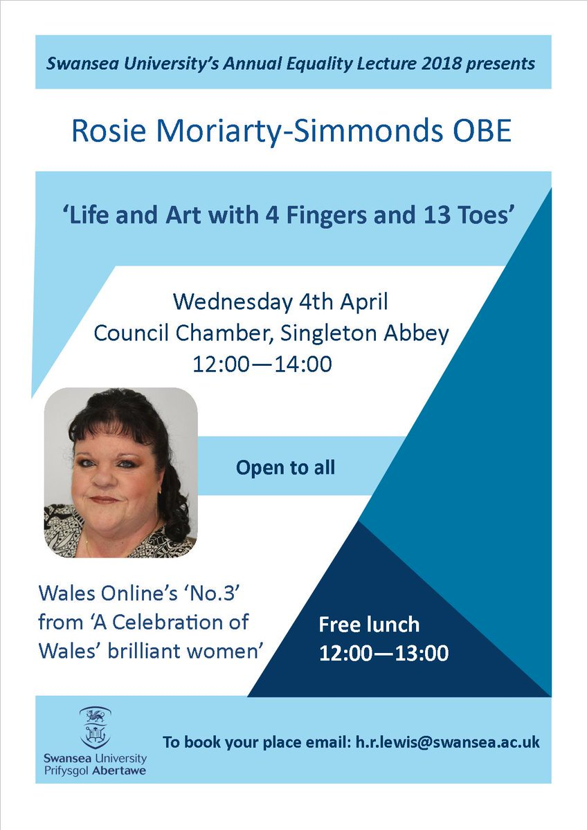 Swansea University Annual Equality Lecture, 4th April