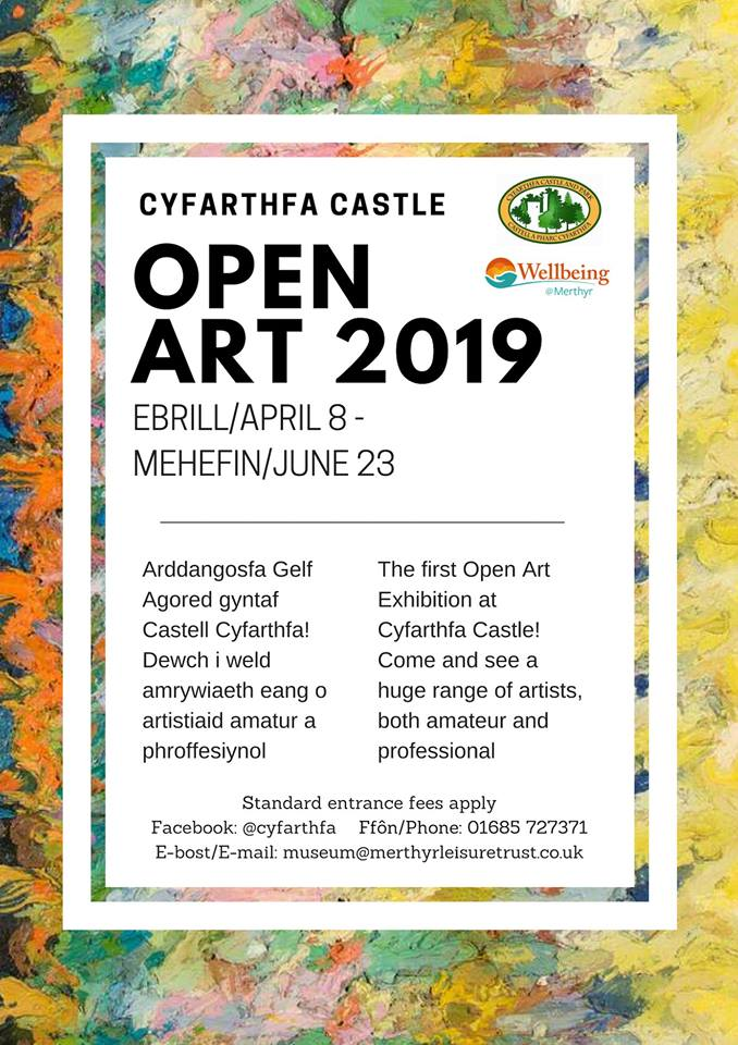 RMS Artwork on display at Open Art Exhibition at Cyfarthfa Castle, 1st April – 23rd June.