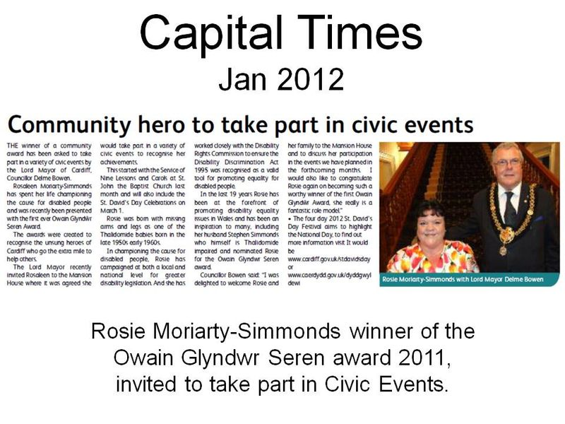 Community hero to take part in civic events
