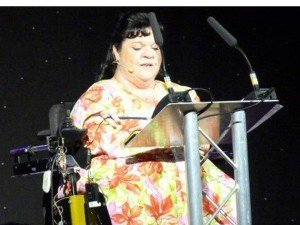 Rosaleen Moriarty-Simmonds leading a tribute to the late Lord Jack Ashley