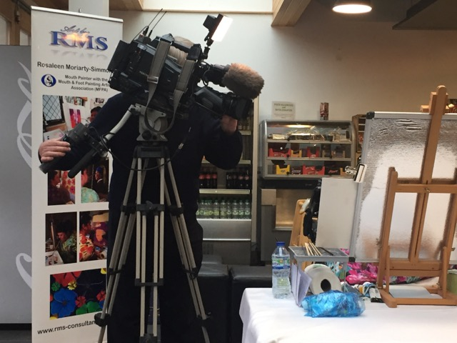 Rosie Painting at Cardiff Castle for the MFPA 4th December 2017