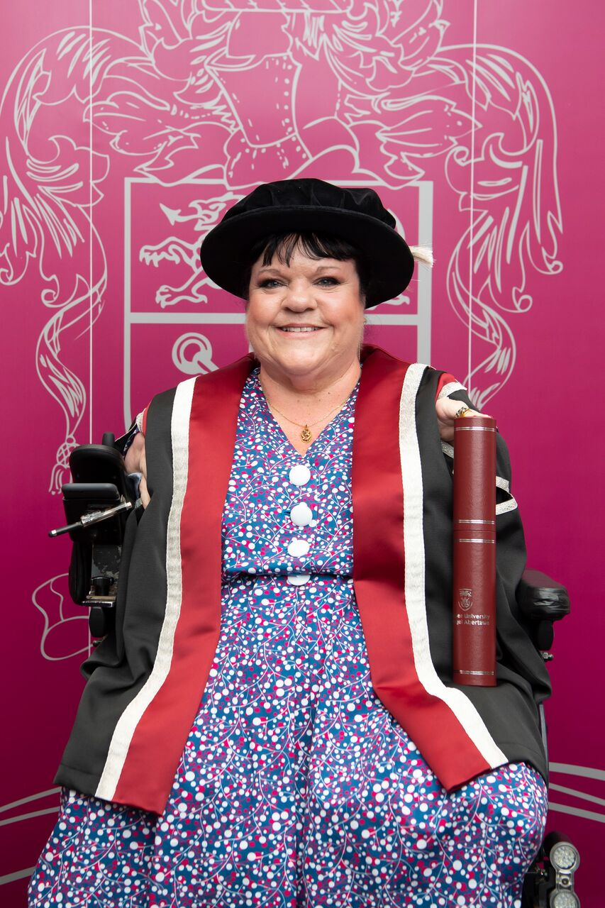 Rosaleen received an Honorary Doctorate Degree from Swansea University