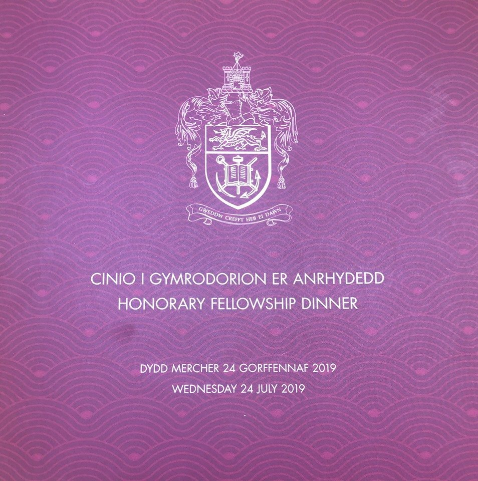 Swansea University Honorary Fellowship Dinner for Graduation Week 2019